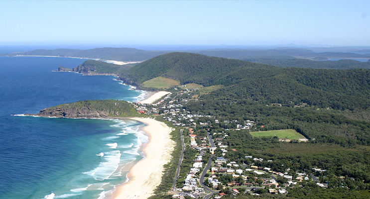 The MidCoast is home to approximately 190km of coastline (this photo is of Pacific Palms).
