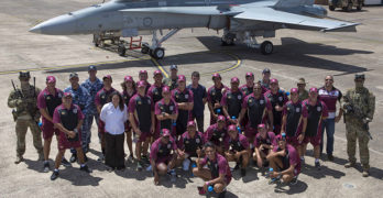 Porche and NRL stars visit Williamtown RAAF Base