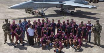 Porche and NRL stars visit Williamtown RAAF Base