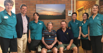 David Gillespie meets with Stroud Lodge staff and residents