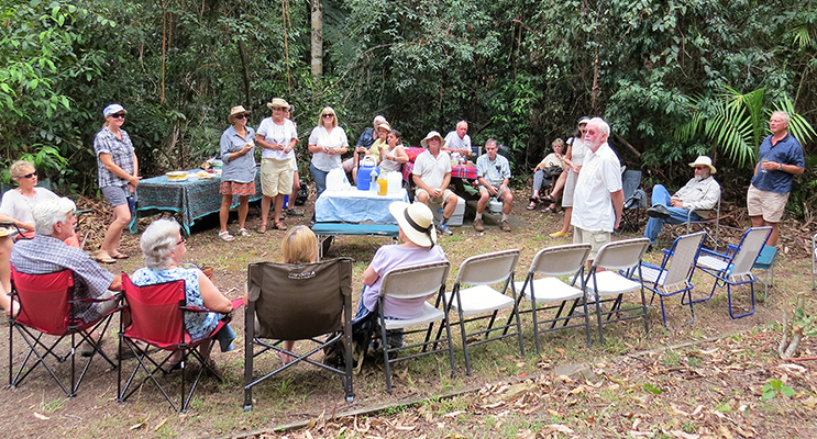 Celebrations: Community members at The Grandis Picnic Area.