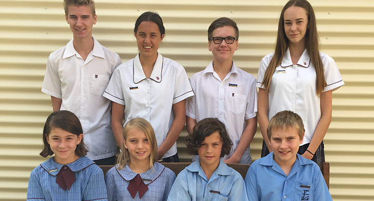 The primary and secondary school leaders of Medowie Christian School for 2017.