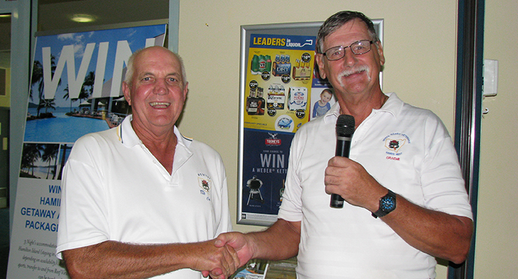 1.	Colin Bagnall winner of the A Grade Medal along with Captain Graham Bramley.
