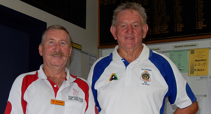 Winners of the Friday Open Jackpot Pairs: Greg Pearson and Ross Barry.