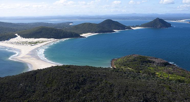 Aerial view of Port Stephens