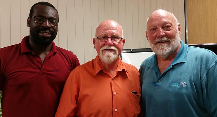 SHEARGOLD DEVELOPERS: Development Manager Ledum Yorgure, Project Advisor John Dunning, Consultant Bob Lander.