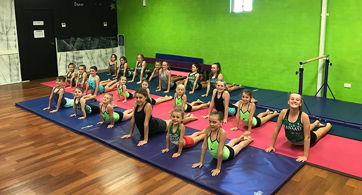 Students enjoying the new Acrobatics Arts/Dance classes.