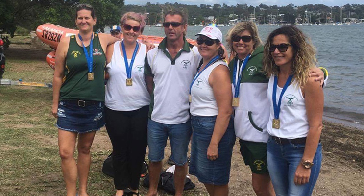 GOLD MEDALLISTS: LJ Chester, Justine Cruise, Steve Howell, Kate Maddison, Kelly Pietsch and Peta Shelton.
