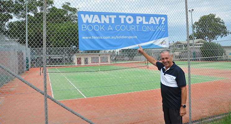 Soldiers Point Tennis Club President Paul McQuarrie.