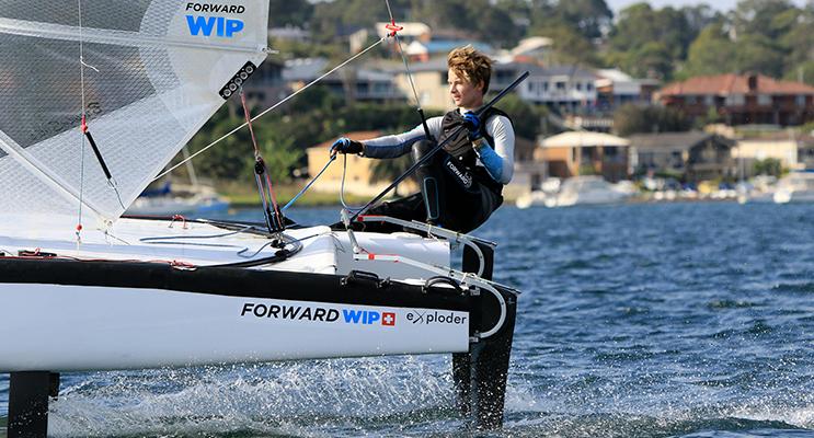 Lachlan White on a solo sail.