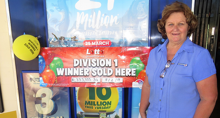 Bulahdelah Newsagent Sue Chick is hoping to sell another winning entry.