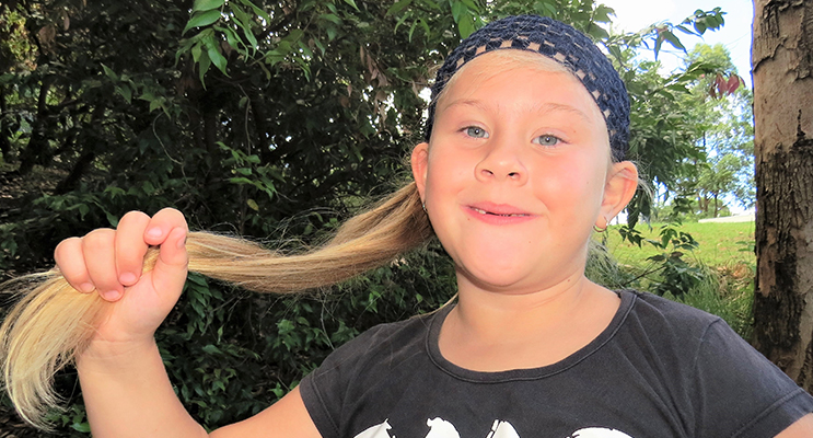 Kirra-Lea Rooney will have 45-cms of hair cut off for charity.