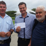 Police Charity Donations at Hawks Nest Golf Club.