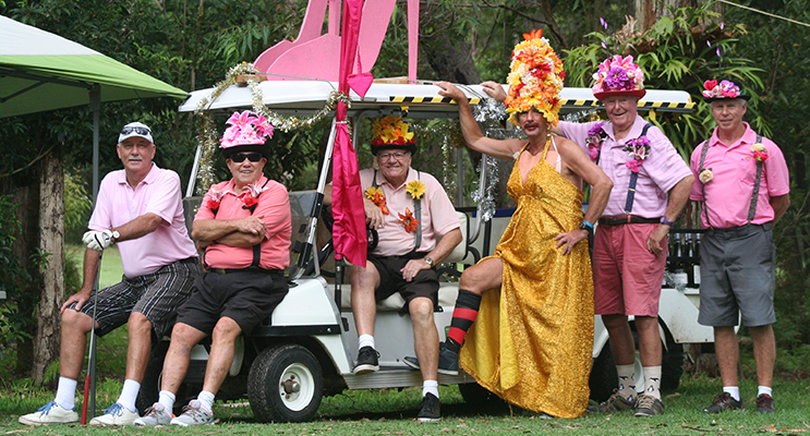 """""""In The Pink"""" helpers: Ross Lalor, Barry Schulz, Peter Griffin, Jeff Melrose, Bill Harding and Neil Goudge."""