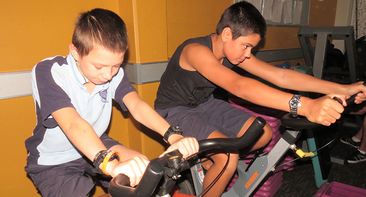 Bikes: Year 8 students Jonathan Hawes and Jett Krohn from Tea Gardens.