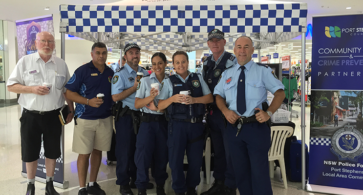 : Community minded: Police Chaplain George Mainprize, ACLO Dean French, Sgt Michael Magann, S/C Charlie Maybury, S/C Leanne Mann, S/C Richael Hogan and C/Insp. Brian Tracey.