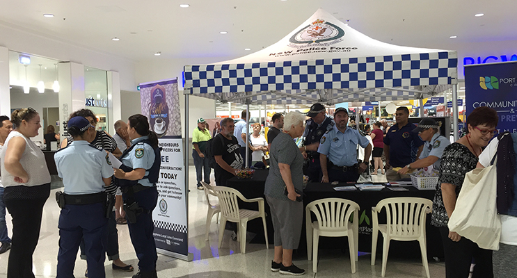 A good crowd of people came to the Coffee with a Cop event to chat to local officers.