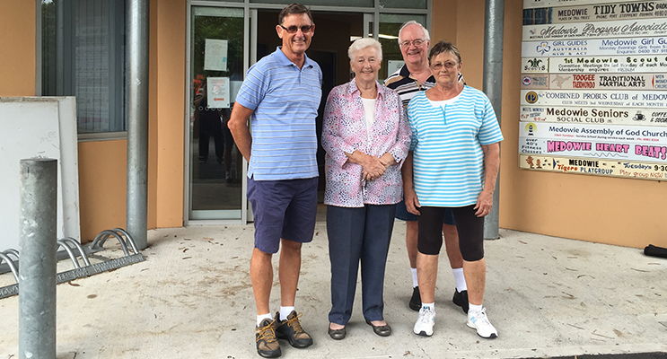 Some of the dedicated Community Hall team: Geoff Dingle, Margaret Turner, Pauline Avery and Kevin Tomlinson.