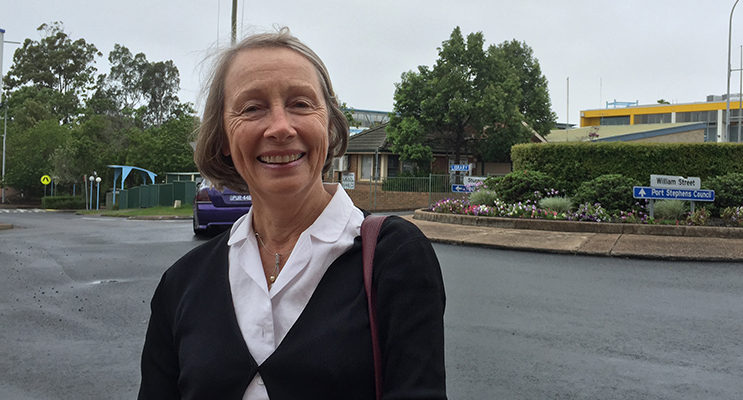 Dungog resident Lisa Connors meets in Port Stephens to discuss the positives of a merger.