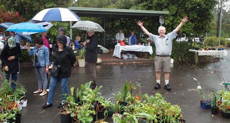 The last plant sale was a roaring success, despite the weather.
