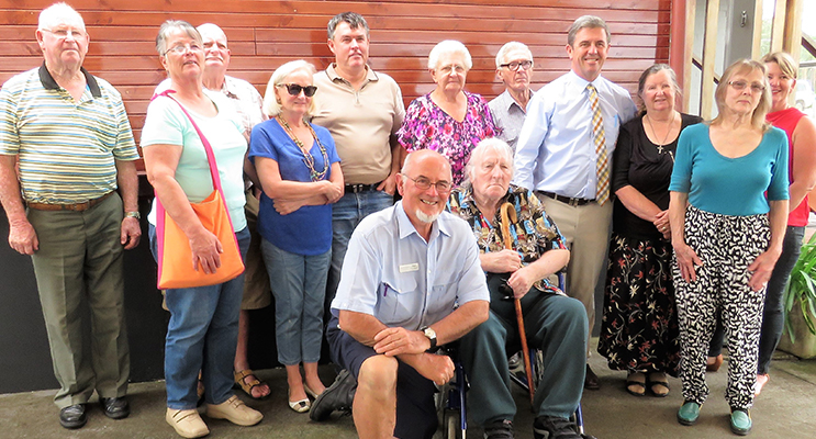 : Federal Member for Lyne Dr David Gillespie meets with residents at the Listening Post at Bulahdelah's Plough Inn Hotel.