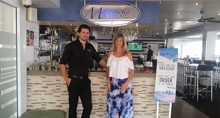 Mavericks event manager Billy Barton and Ladies Long Lunch event organiser Kylie Russell.