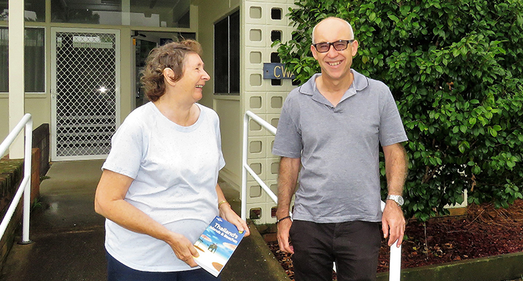 Librarian Loraine Farrell and MidCoast Library Services Manager Chris Jones at Bulahdelah Library