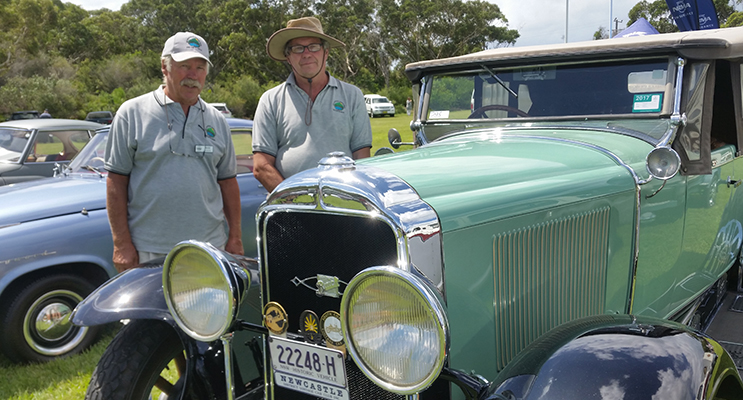 TEA GARDENS/HAWKS NEST MOTOR CLUB: Max Harden and Tony King.