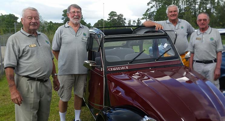 MOTOR CLUB: Juergen Seil, Phil Hoare, Ranald Mackay and Graham Kelly.