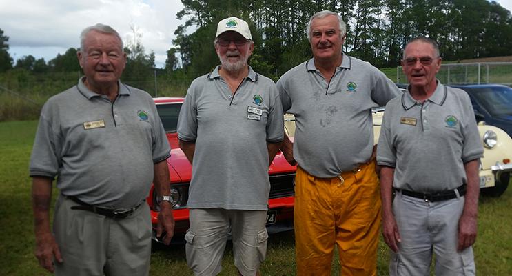 MOTORFEST ORGANISERS: Juergen Seil, Phil Hoare, Ranald Mackay and Graham Kelly.