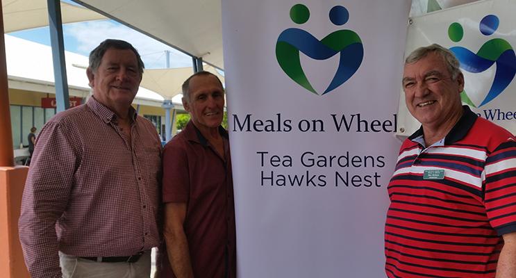 MEALS ON WHEELS: Eddie Lonsdale, John Turnbull and Dan Holmes.