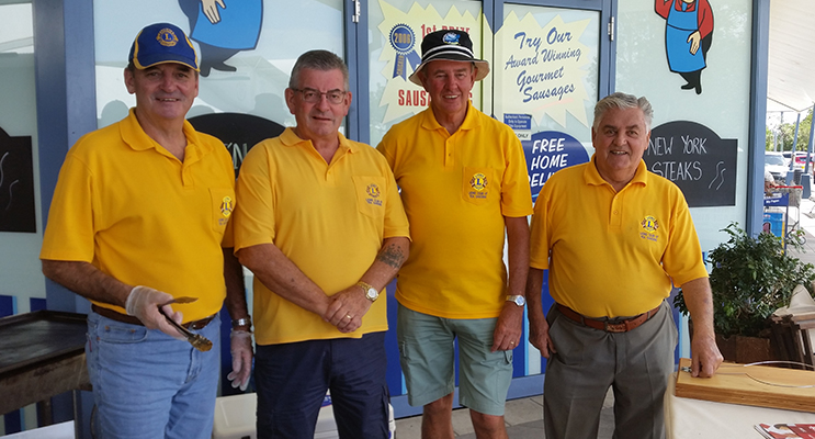 LIONS CLUB: John Hughes, John Boyton, Doug Allen and John Hill.