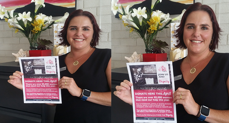 SHARE THE DIGNITY': Volunteer Collector Jodie Genner.