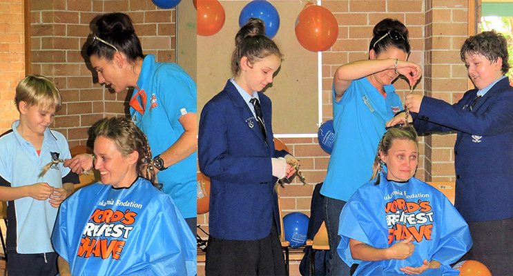 Henry O'Connell helps Renee Ballantine remove Mrs O'Connell's long plaits.