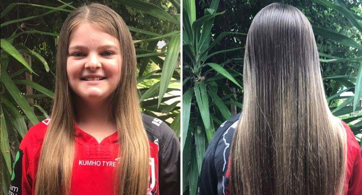 Brooke will have her waist-length hair shaved.