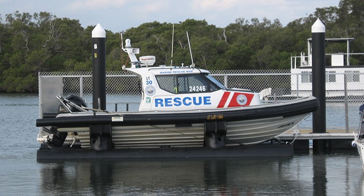 The Marine Rescue craft at the ready