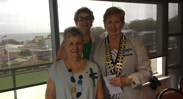 Tomaree Ladies Probus Club's newly elected committee: Daphne Smith, Kitty Phipps and Denise Clark.