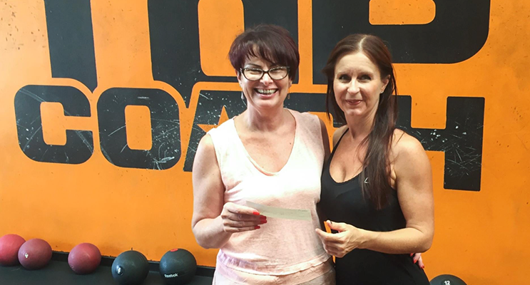 : Leisa Meredith from Top Coach Fitness presented Kylie Baker, Treasurer at PSWCSG, with a cheque for $400 from their recent fundraiser. Photo Supplied