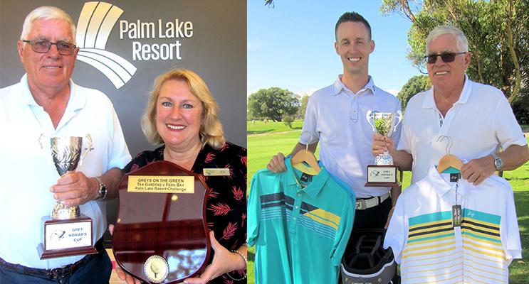 1.David Gilbert, Hawks Nest Golf Club and Jen Nichols, Sales Manager, Palm Lake Resort.(left) 2. Andrew McCormack and David Gilbert.(right)