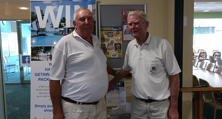 Winners Ian Raine and Adrian Ryan.