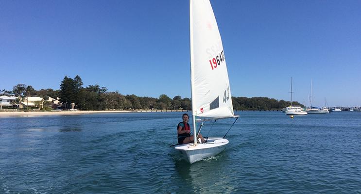 Rebecca Petterson won the President's Award at the Port Stephens Sail Junior Regatta. Photo supplied