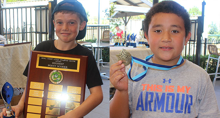 HIGHEST POINT SCORER: Tyler Rodgers.(left)PERFECT ATTENDANCE MEDAL: Medal Sam Alchin(right)