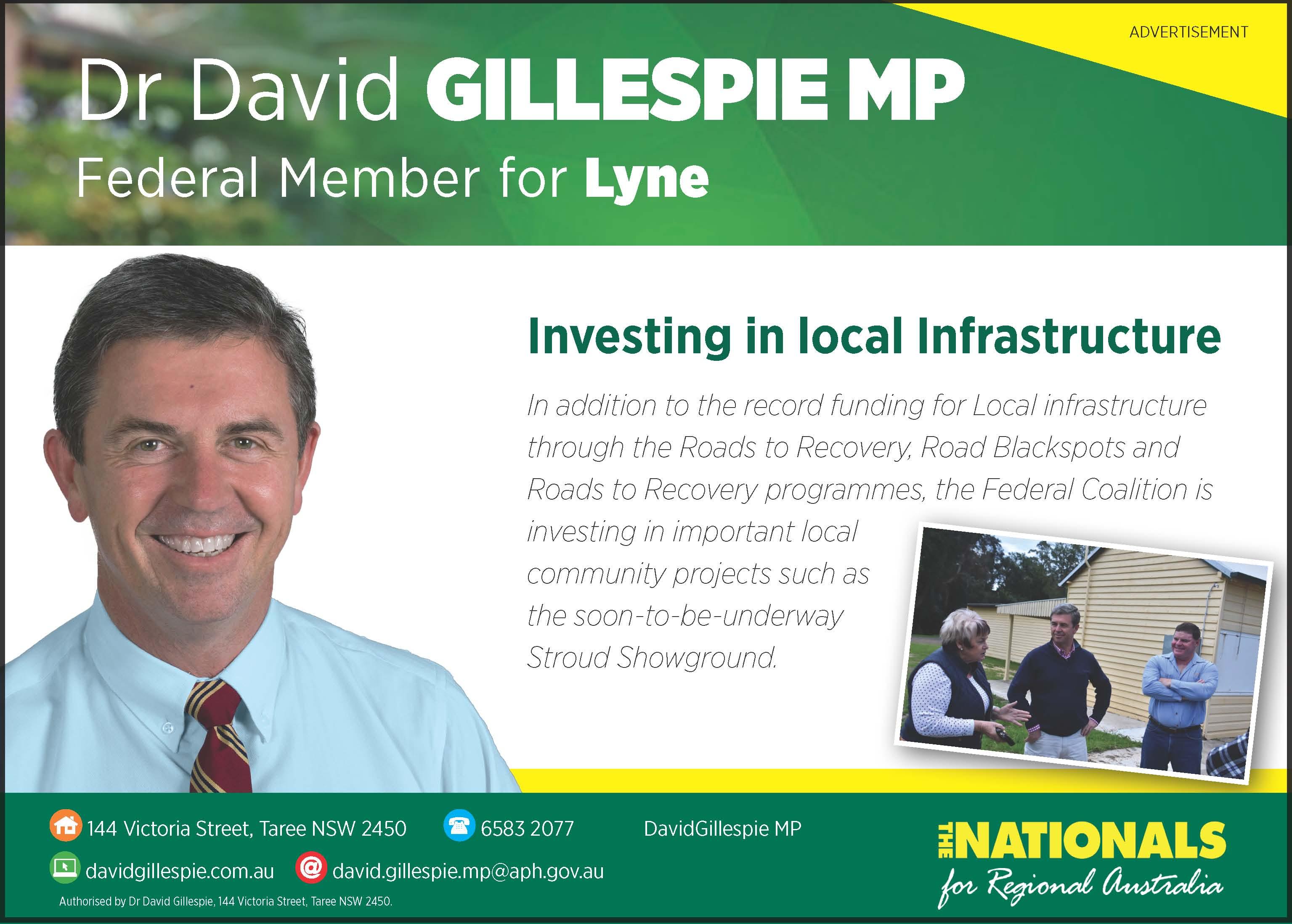 Dr David Gillespie -Member for Lyne