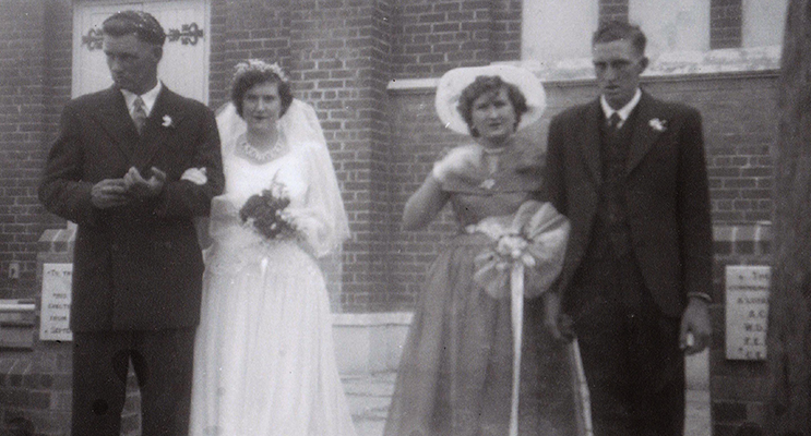 Wedding Day, 13 April, 1957: Arthur and Juin Battle with Nola Coote and Hiram Battle.
