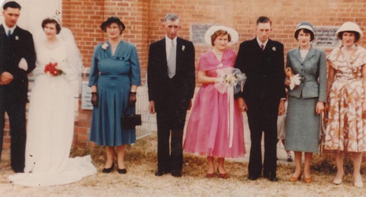 Arthur and Juin Battle on their wedding day.