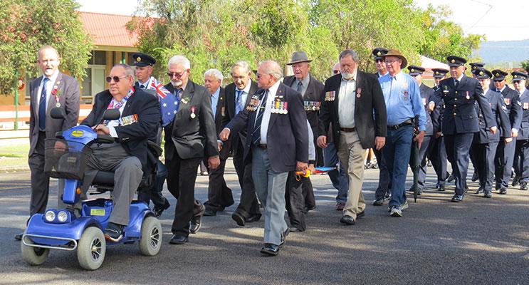 Bulahdelah ANZAC March, 2016.