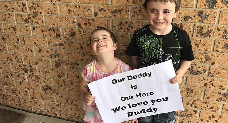 Kaylee and Lucas have a special message for their Dad.