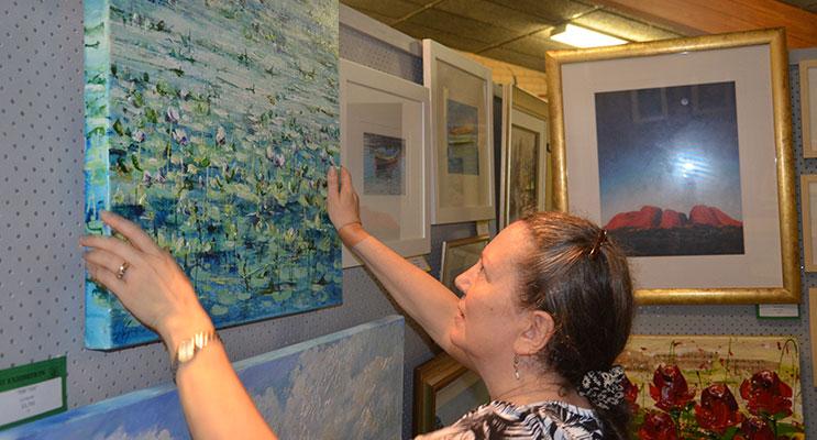 ART EXPO VOLUNTEER: Margaret Gooding.