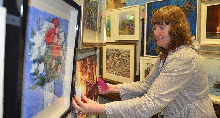 ART EXPO VOLUNTEER: Angela Condie.