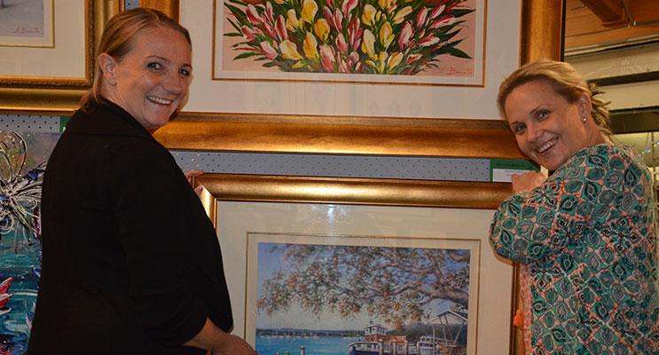 ART EXPO VOLUNTEERS: Kate Ridgeway and Brooke Turner.